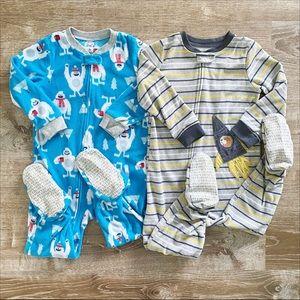 Boys footed sleeper pajamas bundle 3T Carter's